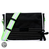 Little Company - Black Label Courier Bag Luiertas - Zwart/Groen