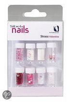 Sibel Decors Strass Valentijn - Nail Art