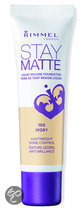 Rimmel Stay Matte Liquid Foundation - 100 Ivory - Foundation
