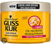 Gliss Kur Repair-Butter Oil Nutritive - 200 ml - Haarmasker