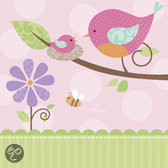 Amscan Europe Tweet Baby Girl Servetten - 16 stuks