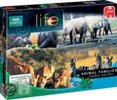 Jumbo BBC Earth Life Zebra Family - Puzzel - 1000 stukjes