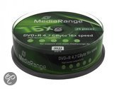 DVD-R MediaRange 4.7GB 25pcs Spindel 16x