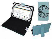 Hoes voor Lenco Tab 9702, Cover met Fragile Print, Blauw, merk i12Cover