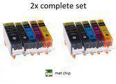 Canon CLI-521 / PGI-520 2x voordeelset 5 stuks met chip inktmedia huismerk Cartridge
