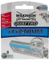 Wilkinson Sword Quattro Titanium - 8 stuks - Scheermesjes