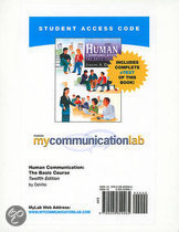 MyCommunicationLab with Pearson EText - Standalone Access Card - for Human Communication