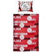 Ajax Dekbedovertrek - 100 x 135 cm - 1 Sloop - Rood
