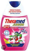 Theramed 2in1 Junior Aardbei - 75 ml - Tandpasta