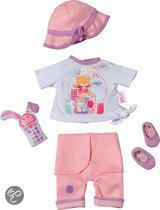 My Little Baby born Luxe Kledingset Op Stap - Poppenkleding
