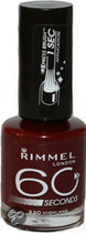 Rimmel 60 Seconds Finish - 330 Highland - Rood - Nagellak