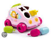 Cotoons - sorteer auto met vormpjes - roze