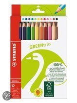 STABILO Greentrio - Etui met 12 Kleurpotloden