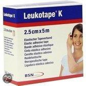 Leukotape K - Elastische Tape - 5 m x 2,5 cm - Huidkleur