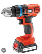BLACK+DECKER Accuboormachine EGBL14KB - 14,4V 1,3 Ah Li-Ion - Incl. 2e accu