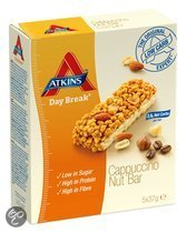 Atkins Day Break Cappuccino Nut Reep - 5x37 gr - Maaltijdreep