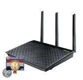 Asus RT-AC66U Dual-band Wireless-AC1750 Gigabit Router - Zwart
