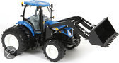 New Holland T7050 Tractor With Dual Wheels + Front Loader