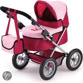Bayer Poppenwagen Trendy - Rood/Roze