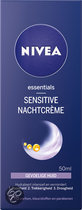 NIVEA Sensitive - 50 ml - Nachtcrème