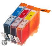 Compatible HP-364 XL met Chip, 3 pak. 1 Cyaan, 1 Magenta, 1 Geel.