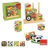 Goula Houten Blokken Puzzel - Boerderij - 8 Blokken