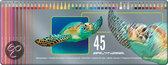 Schildpad Blik - 45 Kleurpotloden