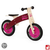 Janod Loopfiets Bikloon - Roze en Bordeaux