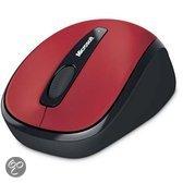 Microsoft Wireless Mobile 3500 - Draadloze Muis / Rood