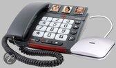 Fysic FX-3500 - Big Button telefoon met antwoordapparaat - Zwart