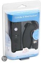 Qware Remote Controller & Nunchuk Controller - Zwart (Wii)