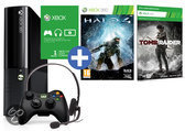 Foto van Microsoft Xbox 360 Super Slim 250GB + 1 Controller + Halo 4 + Tomb Raider + 1 Maand Xbox Live Gold