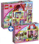 LEGO Duplo Ville voordeelbundel: Speelhuis 10505 + Paardenstal 10500
