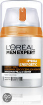 LOral Paris Men Expert Hydra Energetic Comfort Max Hydraterende - Gezichtscrme