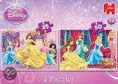Jumbo Disney Princess Belle - Duo Puzzle - 35 en 50 stukjes