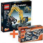 LEGO Technic 42006 Graafmachine + 8293 Power Functions