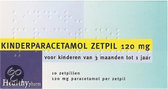 Healthypharm Paracetamol Kind 120 mg - 10 Zetpillen - Pijnstillers