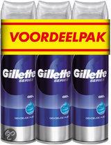 Gillette Series gevoelige huid voordeelverpakking - 3 stuks - Scheergel