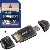 Benza - Kingston Security Digital (SD) Card/Kaart SDHC 16GB Class 4 (Inc. USB SD/SDHC Kaartlezer) Geheugenkaarten