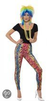 Eighties legging met neon luipaard print