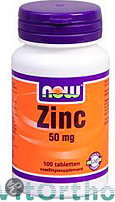NOW Zink Gluconaat 50 mg - 100 Tabletten  - Mineralen