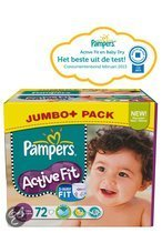 Pampers Active Fit - Luiers Maat 4 - Jumbo Pack Maxi Plus 72st