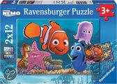 Disney Finding Nemo: Nemo ontsnapt - Kinderpuzzel - 2x 12 Stukjes