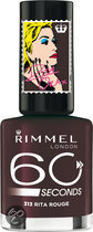 Rimmel London 60 Seconds Colour Rush by Rita Ora - 313 Dark Red - Nagellak