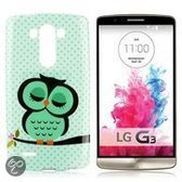 LG Optimus G3 TPU cover, case, hoesje, frontje Owl