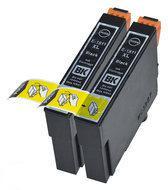 Compatible Epson T1811 / Epson 18XL / Epson 18 met chip, 2 pak. 2 Zwart.