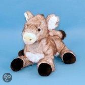 Liggende ezel knuffel grijs 33 cm