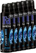 Fa Perfect Wave - 150 ml - Deodorant - 6 st - Voordeelverpakking
