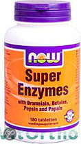 Now Super Enzymes Tabletten 180 st