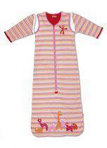 Little Company - Solo Sleeper Stripe Babyslaapzak 80 cm - Roze
